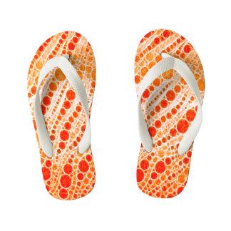 Florescent Orange Zebra Abstract Thongs