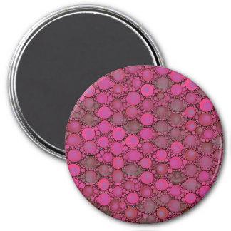 Florescent Pink Bubble Pattern 7.5 Cm Round Magnet