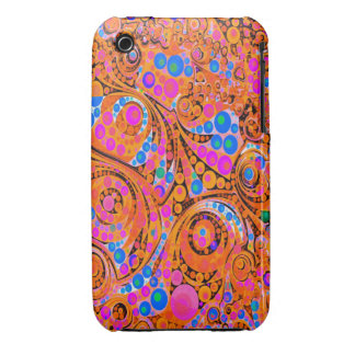 Florescent Pink Orange Abstract iPhone 3 Case-Mate Cases