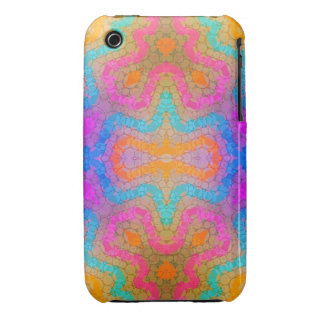 Florescent Pink Turquoise Abstract iPhone 3 Cover