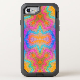 Florescent Pink Turquoise Abstract OtterBox Defender iPhone 8/7 Case