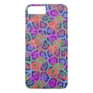 Florescent Purple Blue Cheetah Abstract iPhone 7 Plus Case