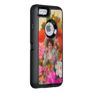 Florescent Vintage Woman Flower Collage OtterBox iPhone 6/6s Case