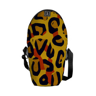 Florescent Yellow Orange Vector Cheetah Commuter Bag