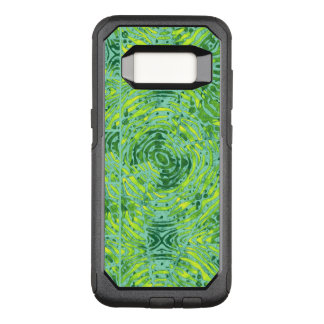 Florescent Yellow Turquoise Zebra OtterBox Commuter Samsung Galaxy S8 Case