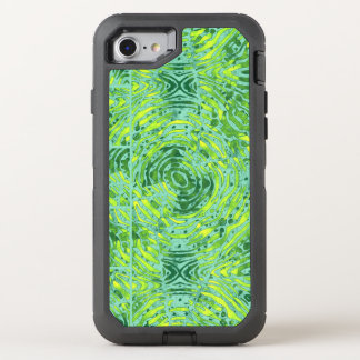 Florescent Yellow Turquoise Zebra OtterBox Defender iPhone 8/7 Case