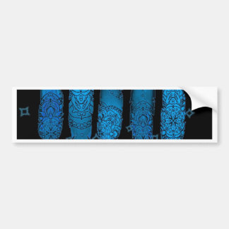 Floressence Baby Blue Feathers Bumper Sticker