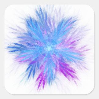 Floribunda Fractal Square Sticker