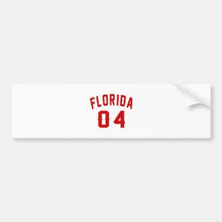 Florida 04 Birthday Designs Bumper Sticker
