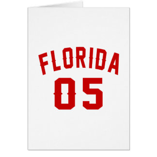 Florida 05 Birthday Designs Card