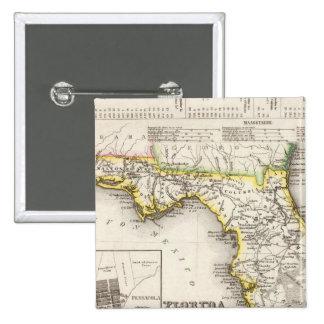 Florida 14 15 cm square badge