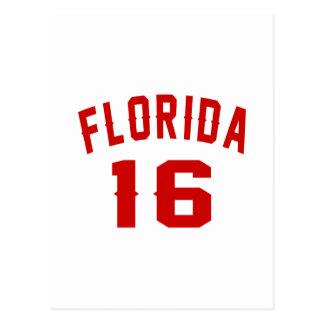 Florida 16 Birthday Designs Postcard