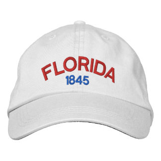Florida 1845 Personalized Adjustable Hat Embroidered Cap