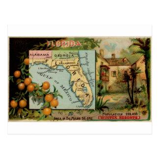 Florida, 1889 vintage card postcard