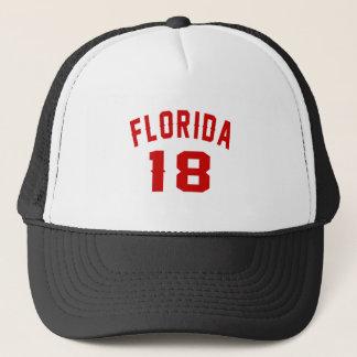 Florida 18 Birthday Designs Trucker Hat