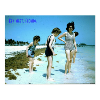Florida 1965 Key West beach, Key West, Florida Postcard