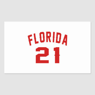 Florida 21 Birthday Designs Rectangular Sticker