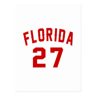 Florida 27 Birthday Designs Postcard