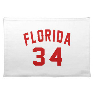 Florida 34 Birthday Designs Placemat