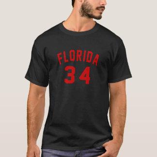Florida 34 Birthday Designs T-Shirt
