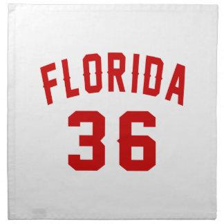 Florida 36 Birthday Designs Napkin