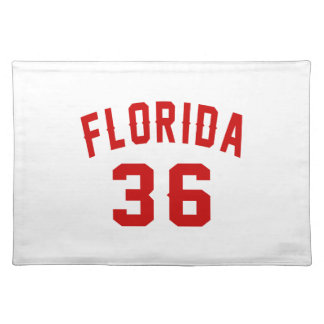Florida 36 Birthday Designs Placemat