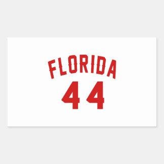 Florida 44 Birthday Designs Rectangular Sticker