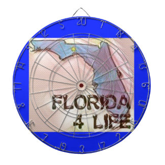 """Florida 4 Life"" State Map Pride Design Dartboard"