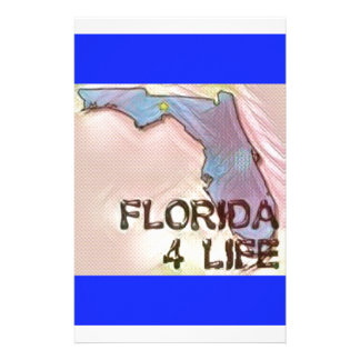 """""""Florida 4 Life"""" State Map Pride Design Personalised Stationery"""