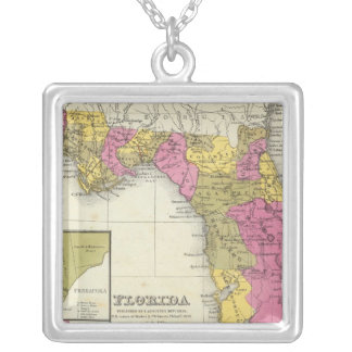 Florida 4 silver plated necklace