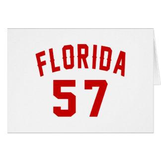 Florida 57 Birthday Designs Card