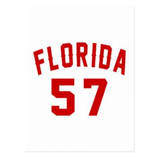 Florida 57 Birthday Designs Postcard