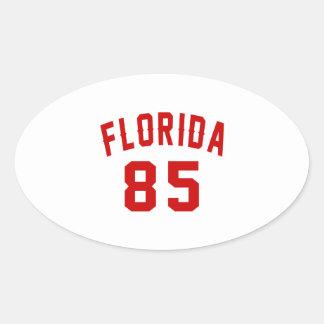 Florida 85 Birthday Designs Oval Sticker