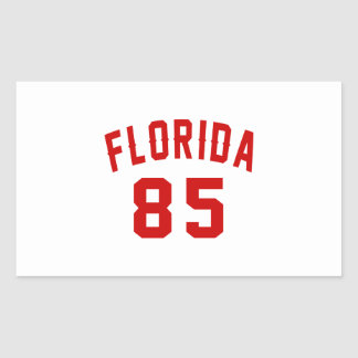 Florida 85 Birthday Designs Rectangular Sticker