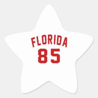 Florida 85 Birthday Designs Star Sticker