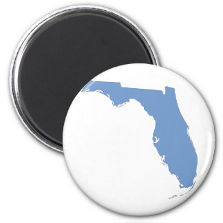 Florida - a blue state 6 cm round magnet