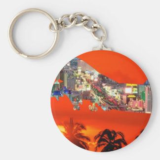 florida airlines basic round button key ring