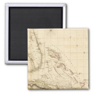 Florida and West Indies Square Magnet
