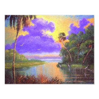 Florida Backwoods Colors 11 Cm X 14 Cm Invitation Card