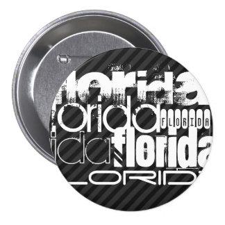 Florida; Black & Dark Gray Stripes 7.5 Cm Round Badge