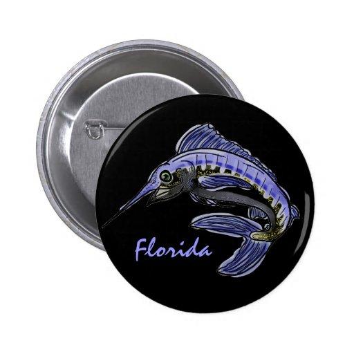 Florida blue marlin button