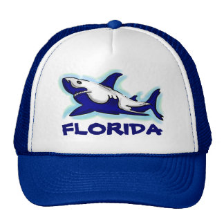 Florida blue shark theme souvenir hat