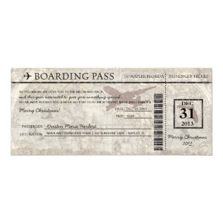 Florida Boarding Pass Card