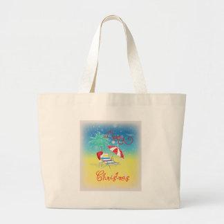 Florida-Christmas Holiday-Whimsical Large Tote Bag