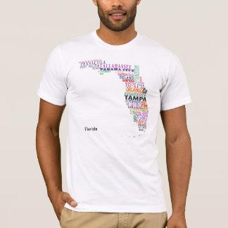 Florida City Map T-Shirt