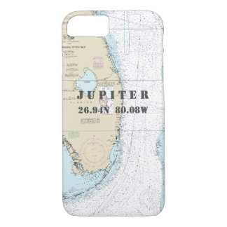 Florida Coast Latitude Longitude Nautical Chart iPhone 8/7 Case