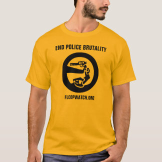 "Florida CopWatch ""End Police Brutality"" Gold Shirt"