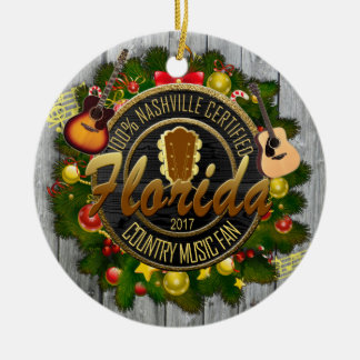 Florida Country Music Fan Christmas Ornament