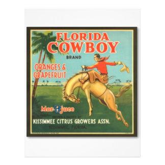 Florida Cowboy 21.5 Cm X 28 Cm Flyer