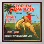 Florida Cowboy Print